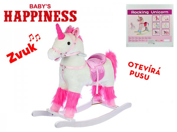 Mikro trading Baby´s Happiness - Jednorožec houpací