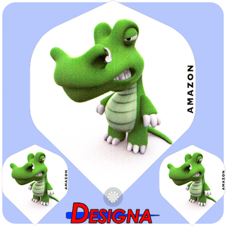 Designa Letky Amazon 3D Life Crocodile F1602""""