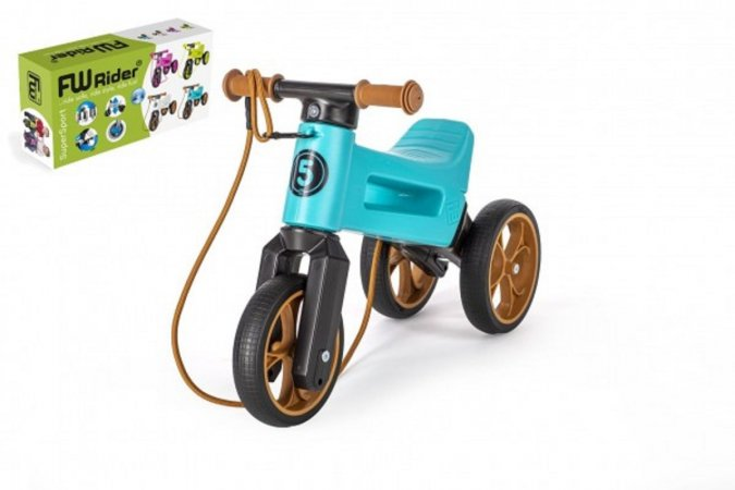 Teddies Odrážedlo FUNNY WHEELS Rider SuperSport 2v1 - tyrkys (v krabici)